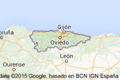 Map of asturia