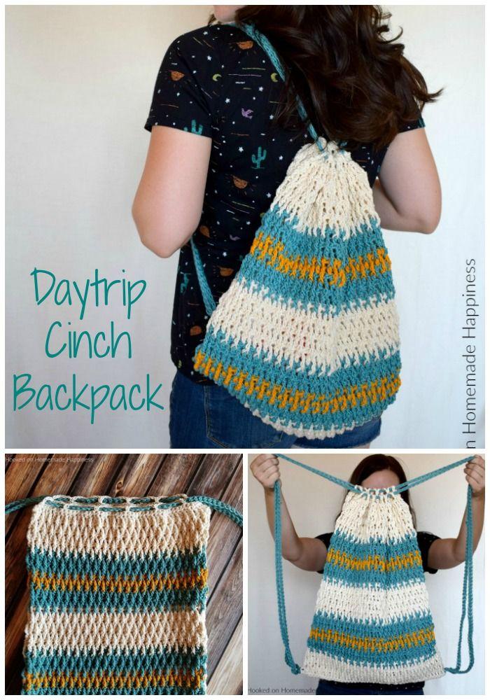 Daytrip Cinch Backpack Crochet Pattern – The Daytrip Cinch Backpack Crochet Patt…
