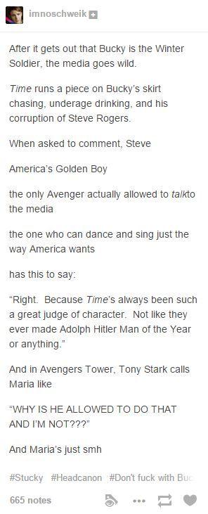 Captain America Winter Soldier Tony Stark Maria Hill James Bucky Barnes Steve Rogers media Time magazine Man of the Year