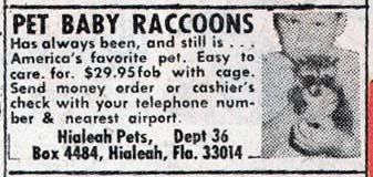 More mail order animals.