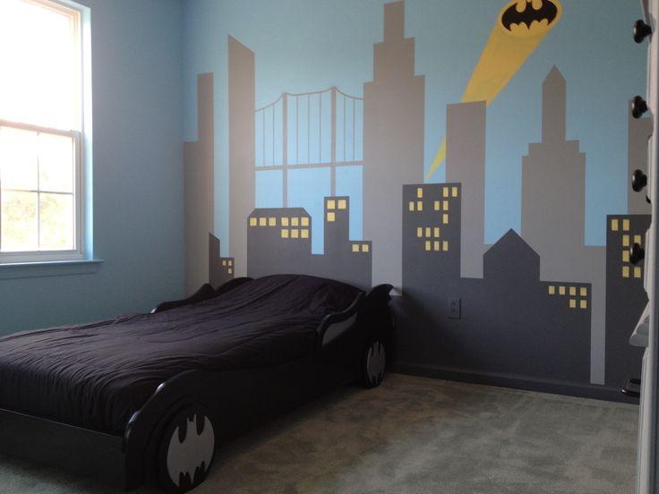 My son's new Batman bedroom. He loves it.