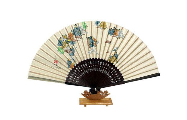 Traditional Folding Fan - Ssireum (Korean Traditiional Wrestling)