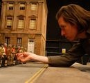Wes Anderson gets hands-on with his cast from Fantastic Mr. Fox