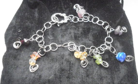 Chakra Stone Bracelet Granet  Carnelian by NorthSpiritRunes, $25.00