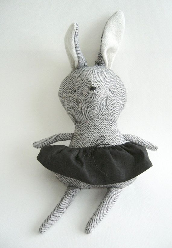 Gray bunny plush
