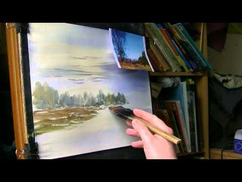 Watercolour painting demonstration using a photograph I took in Sutton Park - Part 2 of 3