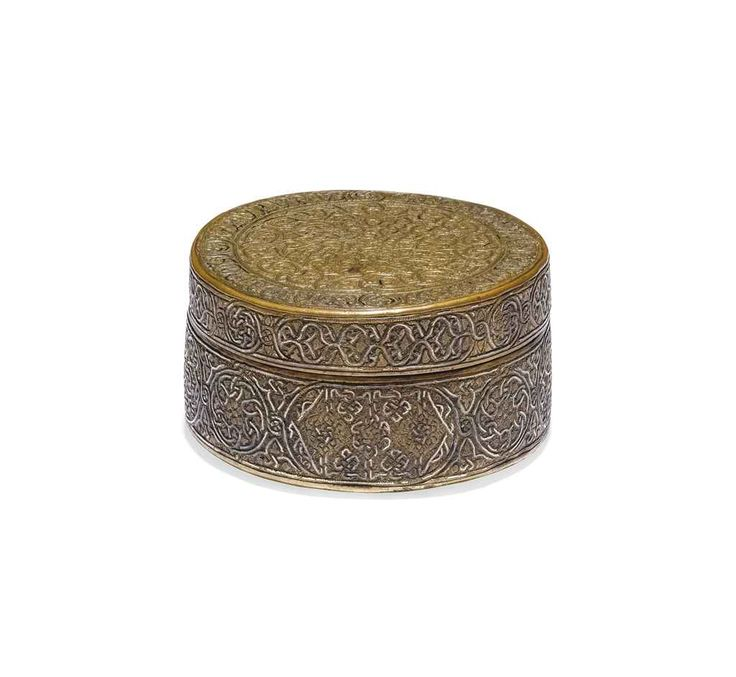A MAMLUK OR POST-MAMLUK ENGRAVED AND SILVER-INLAID CYLINDRICAL BOX | PROBABLY SYRIA, LATE 15TH OR 16TH CENTURY | All other categories of objects, box/case | Christie's