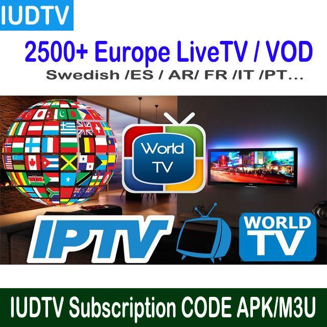IUDTV 1 Year,6 Month,3 Month Sweden iptv channels Espana