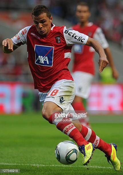 Lima of SC Braga in action during the Liga Portugal match between SC Braga and CD Nacional at the Estadio Municipal de Braga on September 25 2011 in...