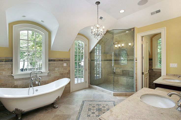 Beautiful Bright Master Bath Bathtub Pinterest