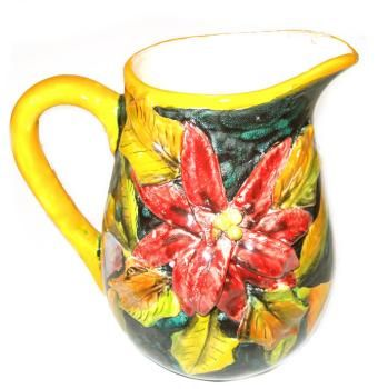 Traditional Majolica Pitcher