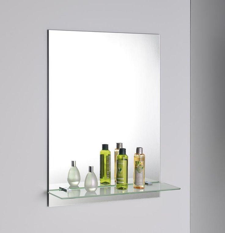 Zrcadlo 50x70cm, včetně závěsů, s otvory pro polici, SAPHO E-shop