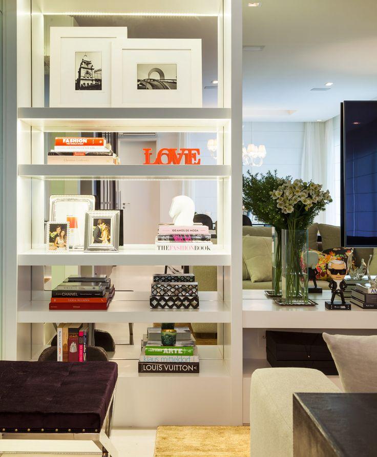 Decoração de estantes #sala #living #estante
