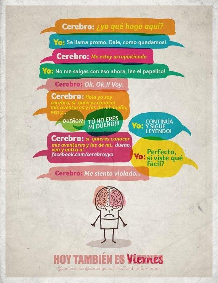 Así están #CerebroyYo porque #Hoytambiénesviernes