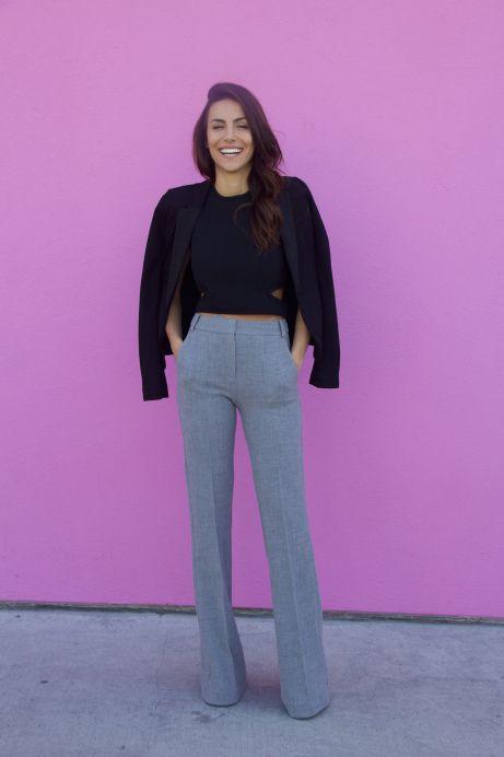 Sweet Ray of Style- lifestyle blog. Mel Fronckowiak wearing LUBLU Kira Plastinina trousers.