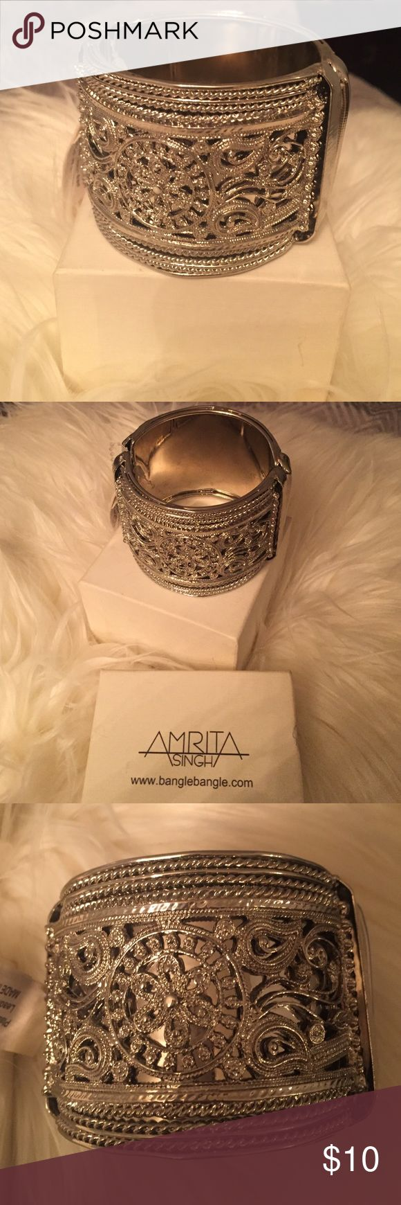 Amrita Singh cuff Beautiful new and unworn Amrita Singh cuff with tag and box. Plating color listed as silver. Lead and nickle free. Amrita Singh Accessories