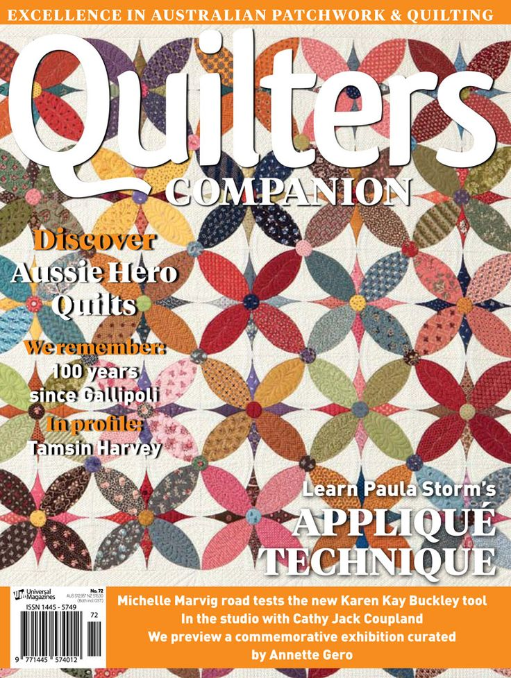 Quilters Companion #72 cover