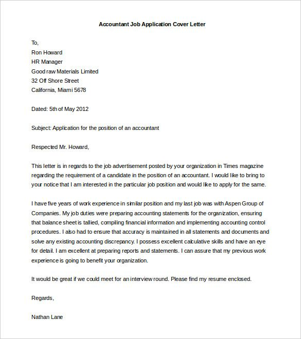Free Cover Letter Template - 52+ Free Word, PDF Documents | Free & Premium Templates
