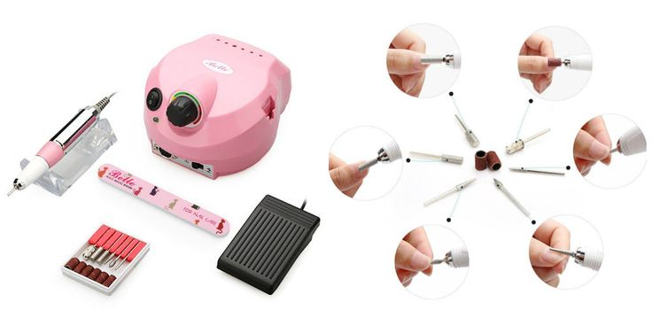 Electric Nail File Drill Professional Manicure Pedicure Machine Kit Foot Pedal  #ElectricNailDrills