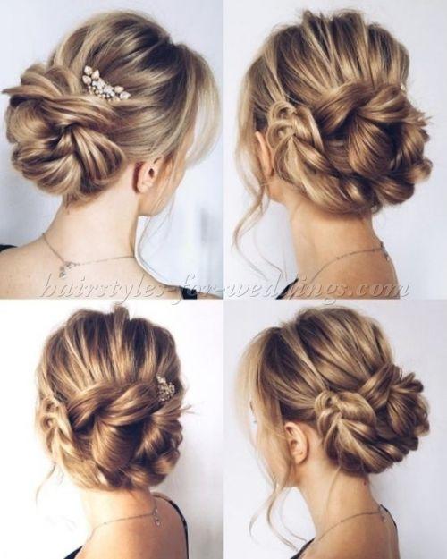 Low Bun Wedding Hairstyles Braided Chignon Wedding Hairstyle Hair Styles Long Hair Styles Wedding Bun Hairstyles
