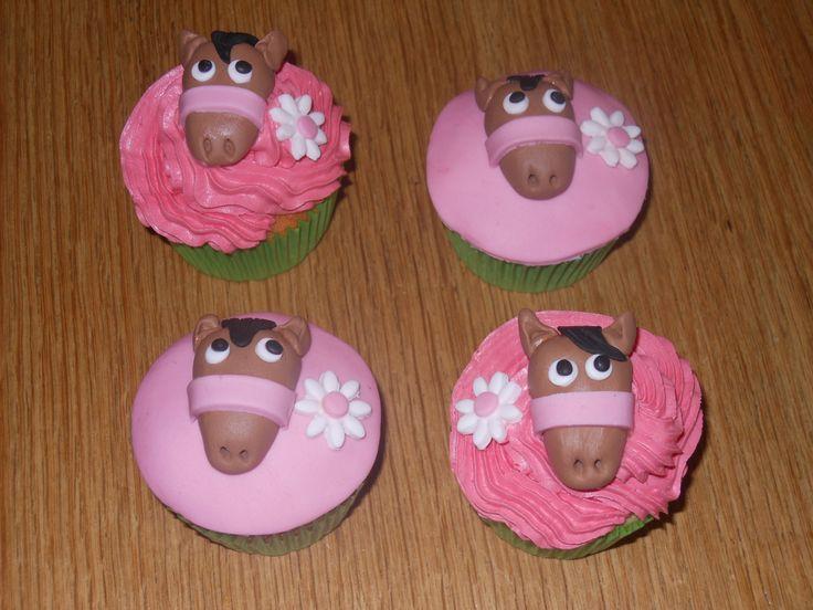 Horse / paard cupcakes