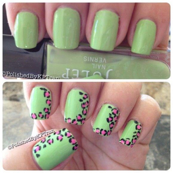 Leopard julep nails