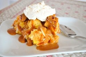Panettone Bread Pudding w/Dulce de Leche Sauce and Homemade Whipped Cream...I may have found the one.  :D