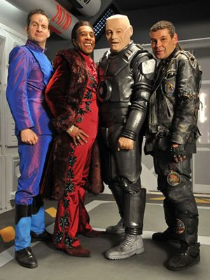 red dwarf | Red Dwarf. Image shows from L to R: Rimmer (Chris Barrie), Cat (Danny ...