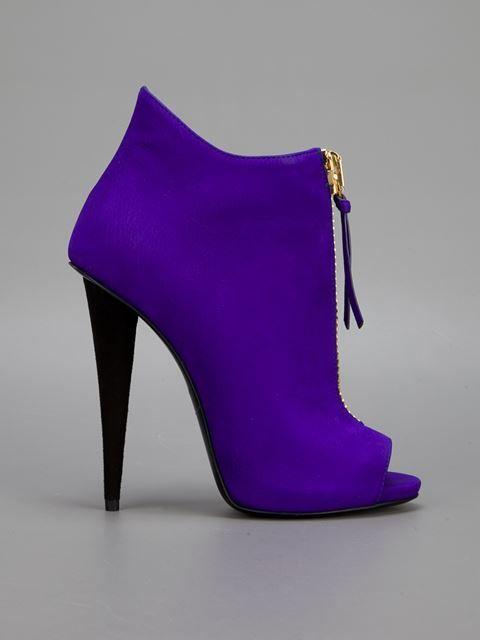 Giuseppe Zanotti Design Zipped Peep Toe Booties