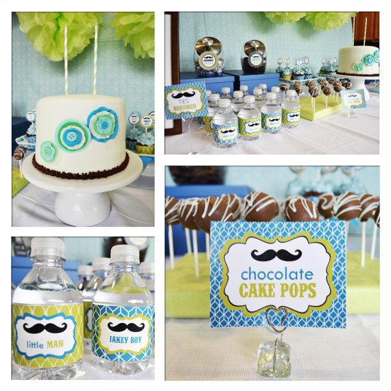 DIY printable Full Collection LITTLE MAN mustaches by BelvaJune on etsy