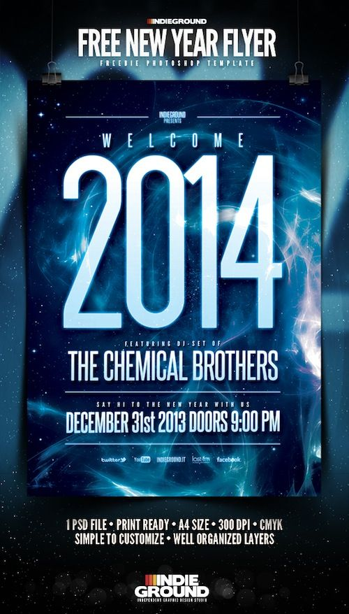 10 Best Free New Year Party Flyer Templates