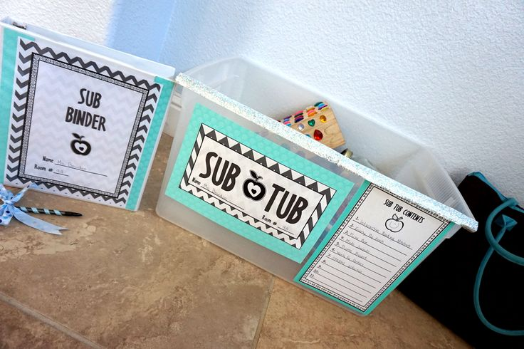 How to create your Sub Tub & other great substitute resources! #subtub #subbinder #substitute