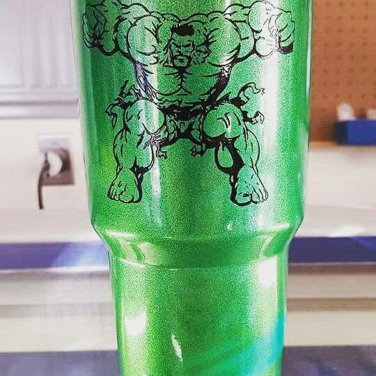 Hulk Yeti Rambler Cup Design Diy Tumblers Glitter Cups