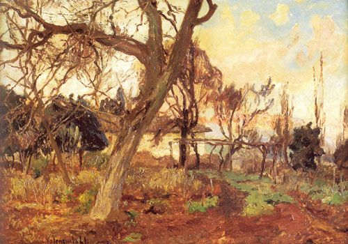 PAISAJE,  Óleo sobre tela 39 x 52 cm Colección Particular