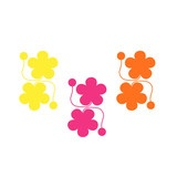 Bright flower curtain tie-backs.