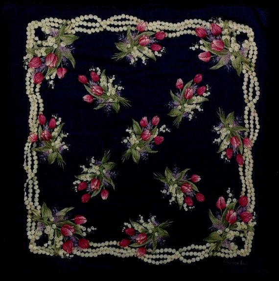 Vintage Christian Dior Handkerchief Code 0169 by GreenViolent, $9.90