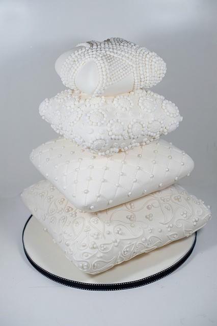 Stack of cushions wedding cake  by elizabethscakeemporium, via Flickr