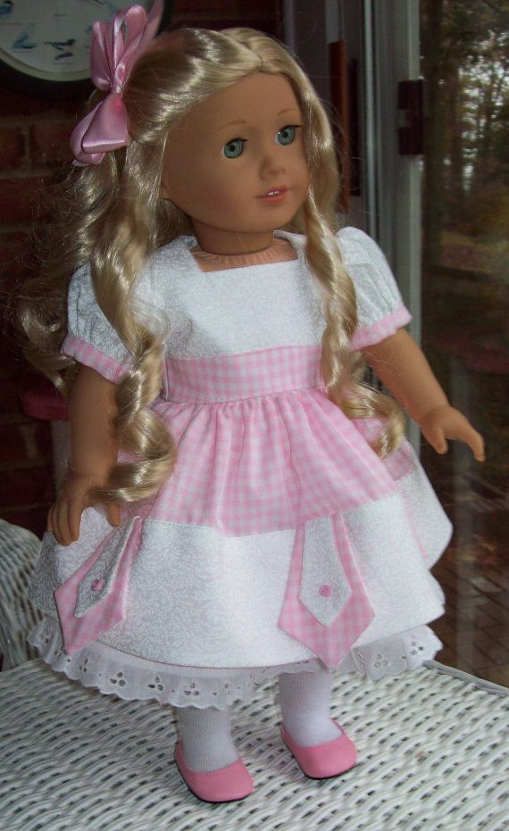 Doll dress slip and hair clip for 18 inch doll or por ASewSewShop
