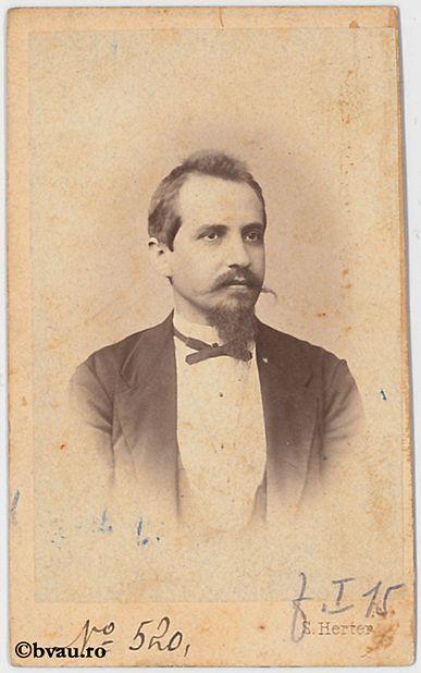 """Profesor Troteanu, Sibiu. Imagine din colecțiile Bibliotecii """"V.A. Urechia"""" Galați."""