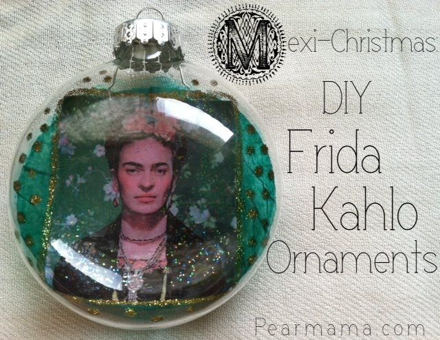 DIY Frida Christmas Ornaments by Pearmama #collagepauge