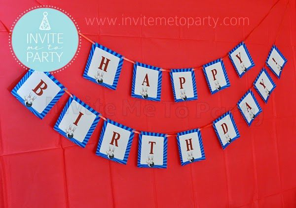 Bowling Party Happy Birthday Bunting   Invite Me To Party: Ten Pin Bowling Party / Bowling Party