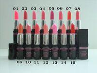 Envío libre al por mayor a Sale 15 colores Seleccionado 2 PC / porción marca de cosméticos de maquillaje del lápiz labial Ocio Hermosas Lápices labiales