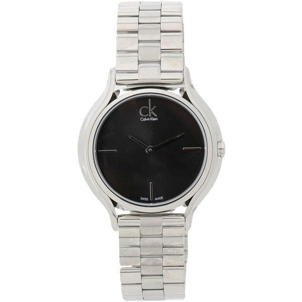 Calvin Klein Wrist Watch (€200) ❤ liked on Polyvore featuring jewelry, watches, black, stainless steel watches, stainless steel wrist watch, calvin klein, stainless steel jewelry and calvin klein watches