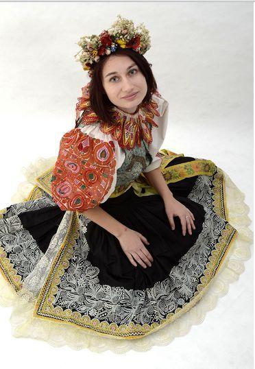 Representative folk costume of Czech town Ústí nad Labem (Western Bohemia) is actually from Slovakia. Original costumes of region were repla...