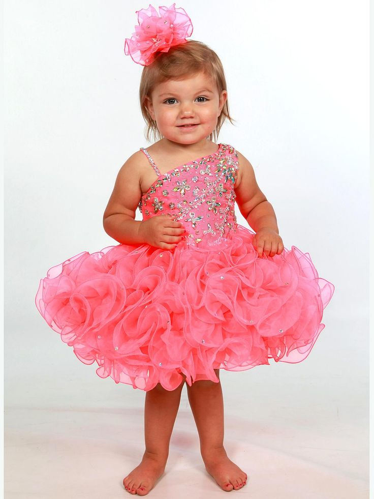 Toddler Baby Pageant Dresses 2017 with One Shoulder And Short Ruffled Cupcake Skirt Pink Girls Cupcake Pageant Dress Custom Made Infant Pageant Dresses Little Girls Pageant Dresses Baby Pageant Dresses Online with $112.0/Piece on Grace2's Store | DHgate.com