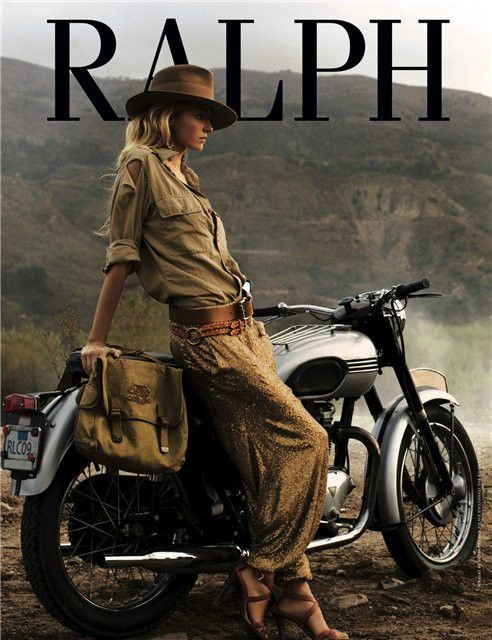 Ralph Lauren, Style, Tribal Fashion, Motorcycles Girls, Ralphlauren, Jungles Safari, Harem Pants, Jungles Animal, Indiana Jones
