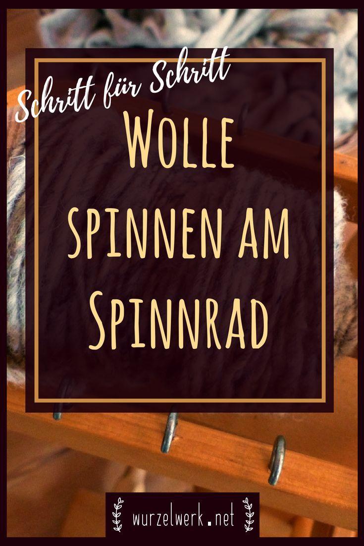 Wollspins am Spinnrad für Anfänger. Warum die Wolle zum Stricken oder Häkeln …   – Schafe halten