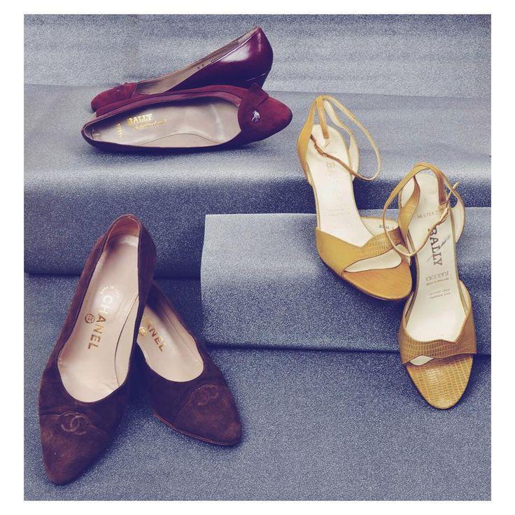 Vintage treasures   high fashion vintage pumps chanel bally shoes szputnyik shop 80s coco couture