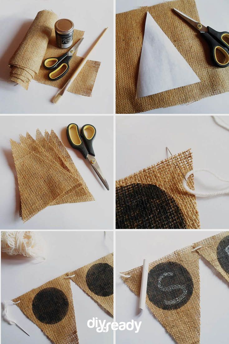 Check out DIY Country Wedding Crafts Ideas: Burlap & Chalkboard Paint Banner by DIY Ready at http://diyready.com/burlap-chalkboard-paint-country-wedding-ideas/