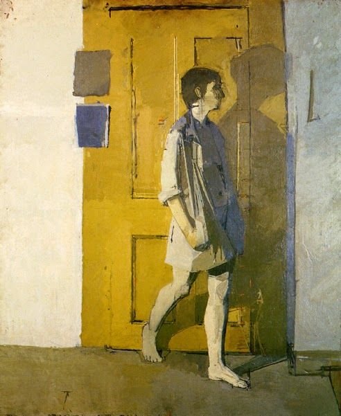 I like the narrative quality of this painting by Uglow